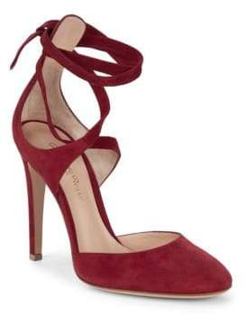 Gianvito Rossi Suede Ankle-Strap Pumps