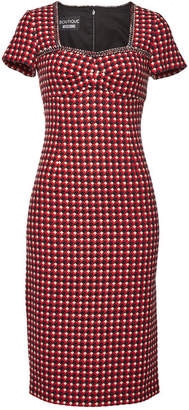 Moschino Printed Dress with Cotton and Wool