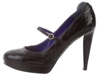 Sergio Rossi Patent Leather Mary Jane Pumps