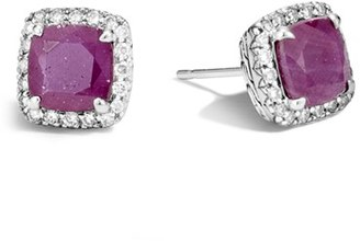 Women's John Hardy Classic Chain - Batu Precious Stone & Pave Diamond Stud Earrings $1,300 thestylecure.com