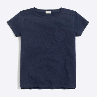 J.Crew Factory Girls' heart pocket T-shirt
