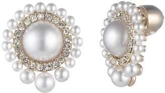 Carolee Simulated Pearl Gradient Round Earrings
