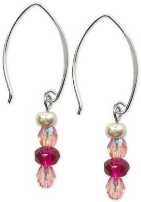 Jody Coyote Faceted Czech Glass Bead Drop Earrings in Sterling Silver & Silver-Plate