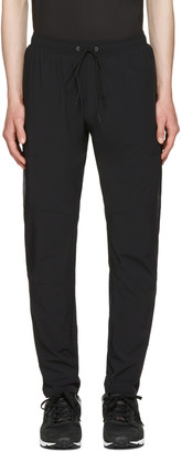 ISAORA Black LTW Stretch Training Track Pants $165 thestylecure.com