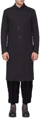 DEVOA Stand collar jersey coat