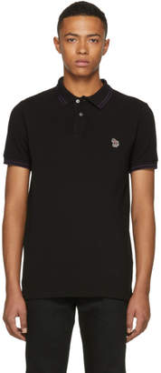 Paul Smith Black Slim Fit Striped Polo