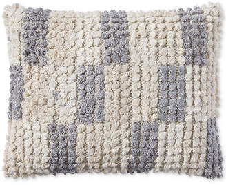 Lucky Brand 16X20 TUFTED CHECK DECORATIVE PILLOW