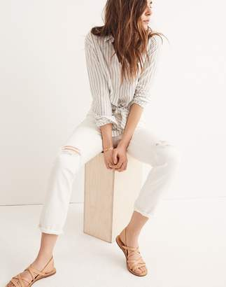 Madewell The Tall High-Rise Slim CrBoyjean in Tile White