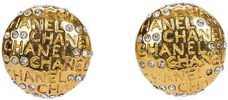 One Kings Lane Vintage 1970s Chanel Rhinestone Earrings - Vintage Lux