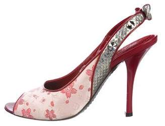 Louis Vuitton Cherry Blossom Slingback Sandals