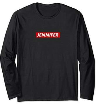 Jennifer Box Logo Streetwear Long Sleeve Shirt