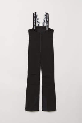 H&M Ski Pants with Suspenders - Black