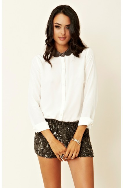 By Zoé Glitter Button-Down Shirt