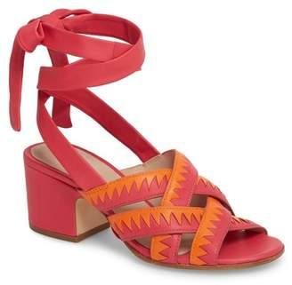 5f6e0958274 Red Wraparound Ankle Women s Sandals - ShopStyle