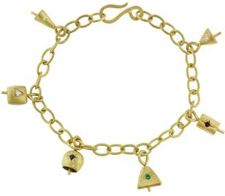 Ileana Makri EYE M by Six Bell Charm Bracelet