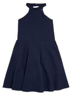 Un Deux Trois Girl's Halter Fit-&-Flare Dress