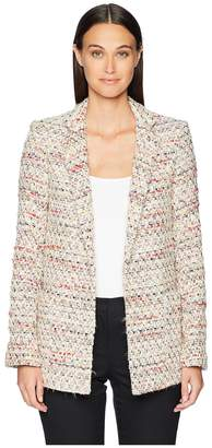 ADAM by Adam Lippes Cotton Tweed Long Blazer Women's Coat