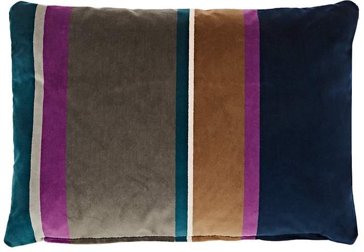 Lori Shinal Striped Velvet Rectangular Pillow
