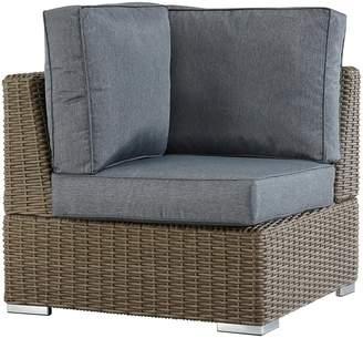 Homevance HomeVance Ravinia Mocha Wicker Patio Corner Chair