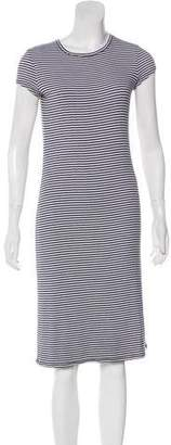ATM Striped Short Sleeve Dress