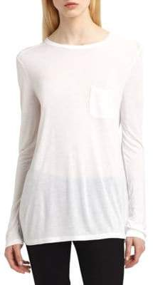 Alexander Wang Classic Long-Sleeve Pocket Tee