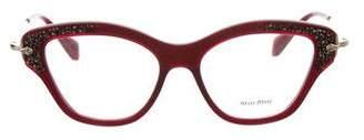 Miu Miu Embellished Cat-Eye Eyeglasses