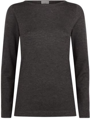 Brunello Cucinelli Long Sleeve Lurex Sweater