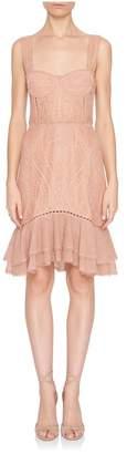 Jonathan Simkhai Sleeveless Lace Bustier Mini Dress