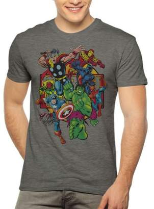 2bf0e5cdfc29 Marvel Avengers Comics Group Shot Men s Short Sleeve Graphic T-Shirt