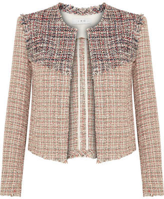 IRO Walefa Frayed Cotton-blend Tweed Jacket - Beige