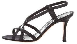 Manolo Blahnik Stlasti Satin Sandals