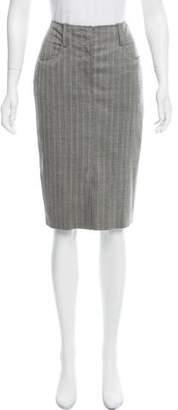 Saint Laurent Wool Knee-Length Skirt