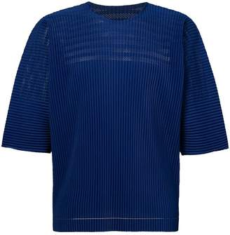 Issey Miyake Homme Plissé short-sleeve pleated top
