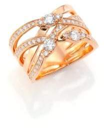 Hearts On Fire Aerial Diamond& 18K Rose Gold Right Hand Ring