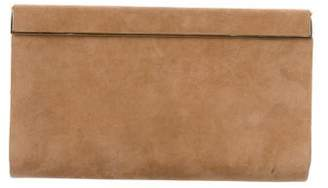 Jimmy Choo Suede Frame Clutch