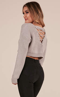 Showpo Shes A Riot Knit sweater in Grey