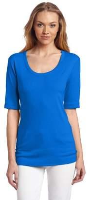 Three Dots Red Women's Half-Sleeve T-Shirt