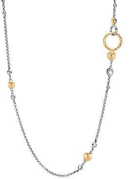 John Hardy Women's Dot 18K Bonded Yellow Gold & Silver Chain Station Necklace