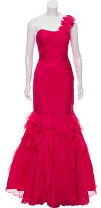 Jovani Tulle One-Shoulder Gown w/ Tags