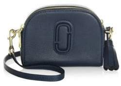 Marc Jacobs Shutter Leather Half Moon Crossbody Bag