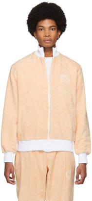 Casablanca Pink and White After Sports Track Jacket