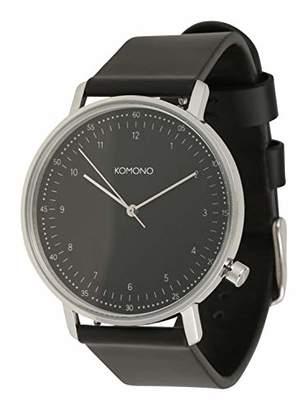 Komono Unisex Adult Analogue Quartz Watch with Leather Strap KOM-W4071