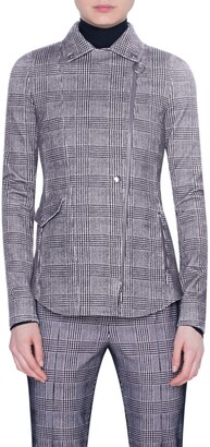 Akris Punto Glen Check Flocked Jersey Jacket
