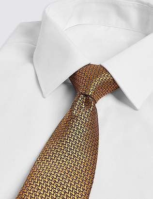 Marks and Spencer Pure Silk Micro Spot Tie