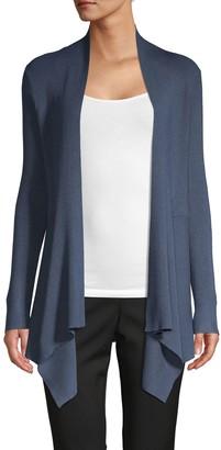 DKNY Asymmetric Open-Front Cardigan