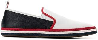 Thom Browne Striped Rope Leather Espadrille