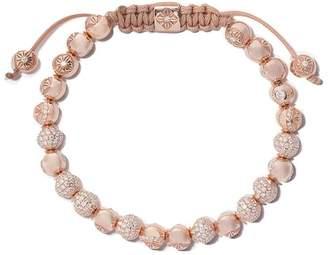 Shamballa Jewels 18kt rose & diamond Non-Braided beaded bracelet