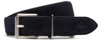 Lacoste Men's Tongue Buckle Suede-Style Leather Belt