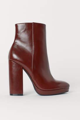 H&M Platform Ankle Boots - Orange