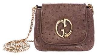 Gucci Ostrich Small 1973 Crossbody Bag